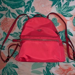 Hot pink guess mini backpack